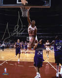 Scottie Pippen Chicago Bulls Autographed vs Toronto Raptors Photo