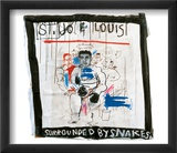 St. Joe Louis Surrounded by Snakes, 1982 Print van Jean-Michel Basquiat