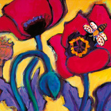Red Poppies Giclee Print by Gerry Baptist