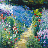 Monet&#39;s Garden Giclee Print by Malva 