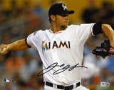 Josh Johnson Miami Marlins Autographed Photographie