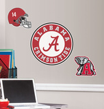 University of Alabama Peel &amp; Stick Wall Giant Wall Decals Wall Decal