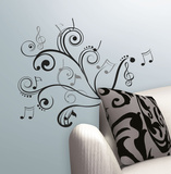 Music Scroll Notes Peel & Stick Wall Decals Wall Decal