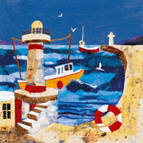 Harbour Lights II Giclee Print by Anuk Naumann