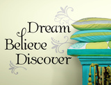 Dream Believe Discover Peel & Stick Wall Decals Wall Decal