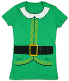 Juniors: Elf Costume Tee Tシャツ