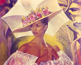 Girl with a Parasol, 1986 Giclee-vedos tekijänä Boscoe Holder