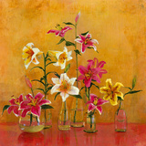 Lilies In Vases II Giclee Print by Danson 