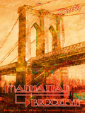 Manhattan to Brooklyn Giclee Print by  The Vintage Collection