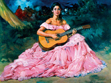 La Guitarista Giclee Print by Fransisco R S Clemente