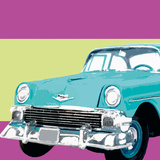Retro Car II Reproduction procédé giclée par Linda Wood
