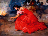 The Fire Dance Giclée-tryk af Fransisco R S Clemente