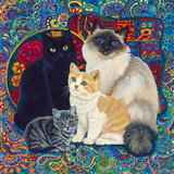 Carpet Cats 1 Giclee Print by Megan Dickinson