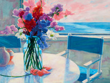 Sweet Peas by the Sea Giclee Print by Suzanne Hoefler