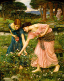Gather Ye Rosebuds While Ye May Giclee Print by John William Waterhouse