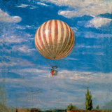 Hot Air Balloon Giclee Print by Pal Szinyei Merse