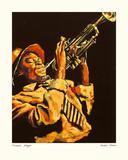 Trumpet Player Giclee Print by Hazel Soan