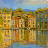 Mirrored Villa Giclee Print by  Longo