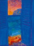 Blue Shutter I Giclee Print by Sara Hayward