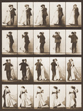 The Waltz Photographic Print by Eadweard Muybridge