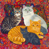 Carpet Cats II Giclee Print by Megan Dickinson