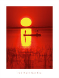 Amber Silhouette Giclee Print by Jon Hart Gardey