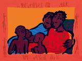 La familia Lámina giclée por Gerry Baptist