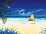 Barbados Beach I Giclee Print by Paul Brown