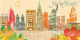 Scrapbook City II Giclee Print by Tom Frazier