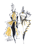 Haute Couture I Giclee Print by Jane Hartley