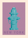 New York - Hydrant Giclee Print by Ben James