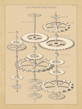 Clockwork Mechanism I Giclee Print