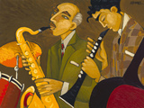 Marsha Hammel - Sax & Clarinet! - Giclee Baskı