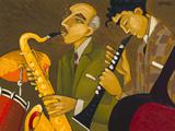 Sax & Clarinet! Giclee Print by Marsha Hammel