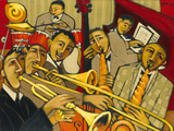 Cacophony in Jazz Reproduction procédé giclée par Marsha Hammel