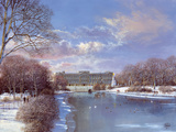 Buckingham Palace Giclee Print by Clive Madgwick