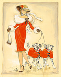 Dancing Dalmations Giclee Print by  Dupre