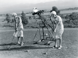 Golf Robot Giclee Print