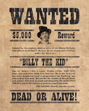 Billy The Kid Giclee Print by  The Vintage Collection
