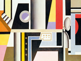 Mechanical Element, 1924 Gicleetryck av Fernand Leger