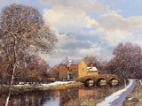 Winter Water Gicle-tryk af Clive Madgwick