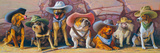The Magnificent Seven Giclee Print by Bryan Moon