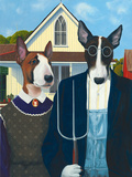 Terrier Gothic Giclee Print by Paula Zimmermann