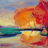River Reflections Giclee Print by Gerry Baptist