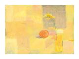 Orange With Yellow Flower Reproduction procédé giclée par Ele Pack