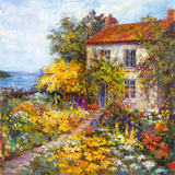 Sea Cottage Giclee Print by  Carson