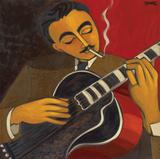 Django Reinhardt Lámina giclée por Marsha Hammel