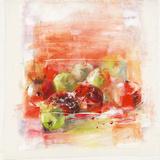 Pommes et poires Print by Elen Sol