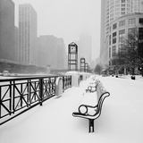 Chicago River Promenade in Winter Print by Dave Butcher