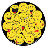Smile - Faces-Vinyl Sticker Stickers